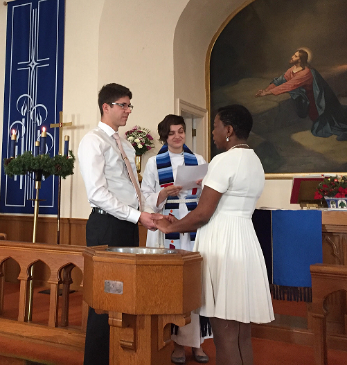 Vow renewal in the sanctuary